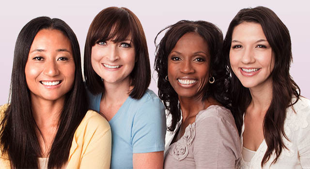 Beautiful Diverse Group Of Women Talking And Laughing