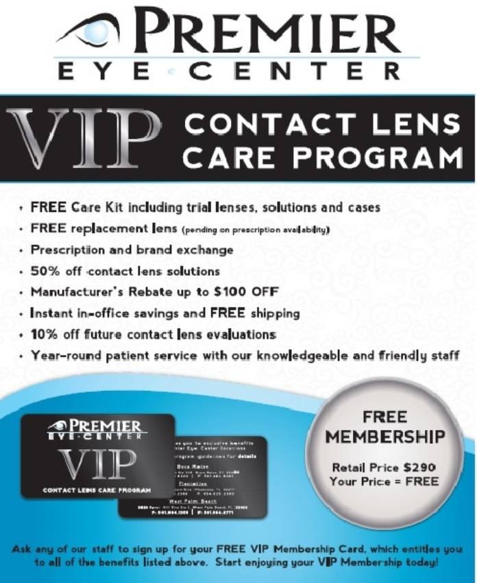 VIP Contact Lens Program