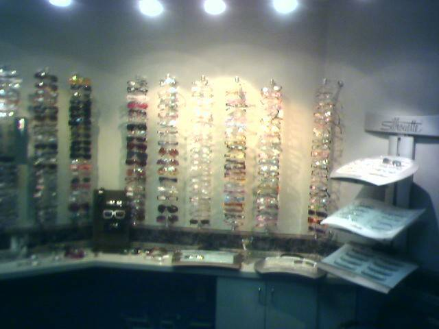 eye doctor nyc wall of glasses pic