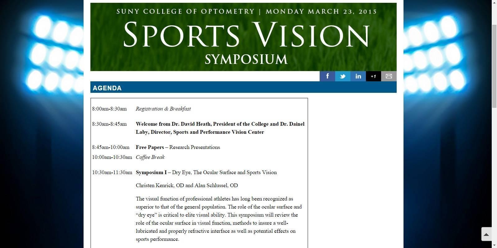Sports Vision Symposium