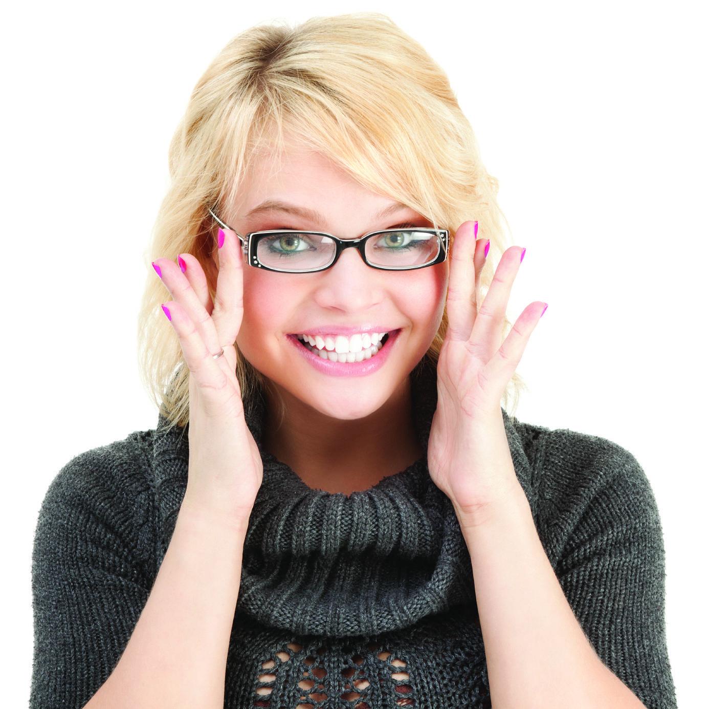 girl funky glasses