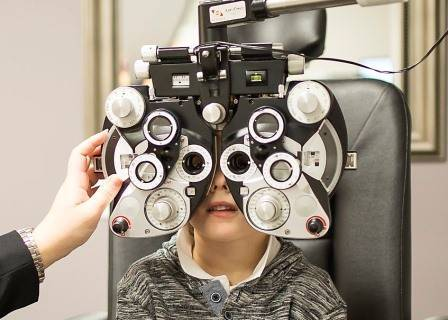 Little Boy Getting an Eye Exam