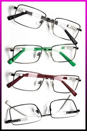 eyeglasses inside pink box to advertise eyewear in chicago, il